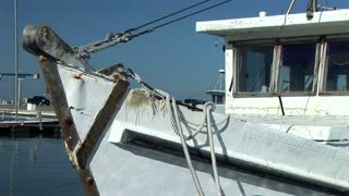 old fishing boat bow