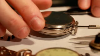opening the pocket watch