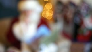 out of focus Santa Clause