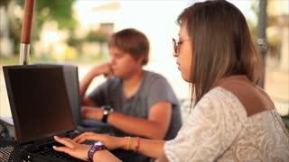 pan teen students outside