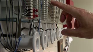phone line repair in an office