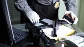 police CSI crime scene investigation