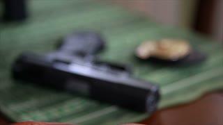 rack focus gun and badge