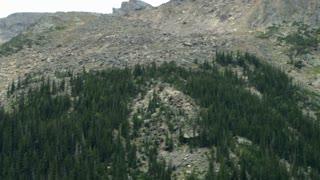 rock slide down the mountain