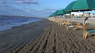 Row of Beach Chairs