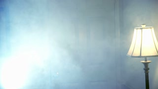 secret agent walks in room and shoots.