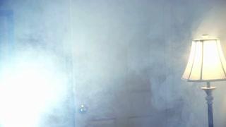 secret agent walks into a smoky room.