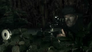 sniper takes aim.