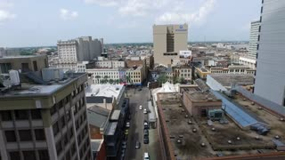 St. Charles ave. New Orleans Louisiana aerial climbing view