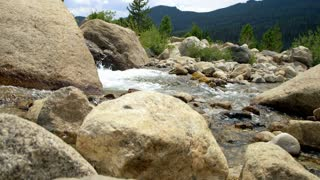 stream in the rocky mountain park