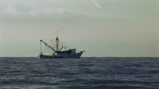 sunrise trawler in the gulf of mexico