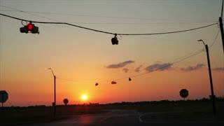 sunset traffic signal