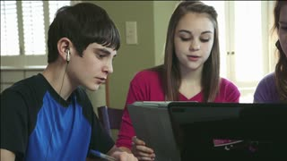 Teenage home study group using technology