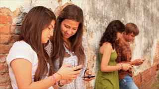 teens showing what is  being texted