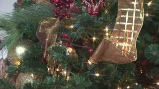 tilt across a large christmas tree