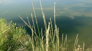 tilt reflecting mountain in lake