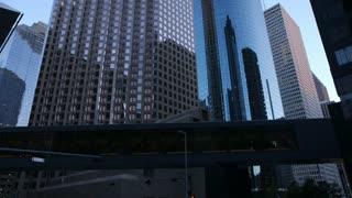 tilt up downtown Houston buildings.
