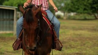 tilt up girl on horse
