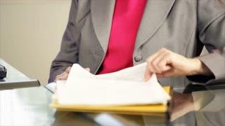 tilt up woman executive