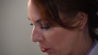 tilt woman doctor closeup