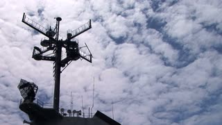 USS lexington antenna mast timelapse