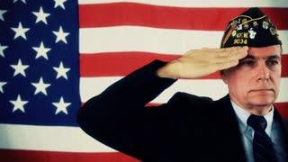 vfw vet saluting tinted