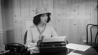 1940s Female Reporter Takes Notes