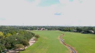 Aerial Establishing Shot Of A Typical Suburban Neighborhood