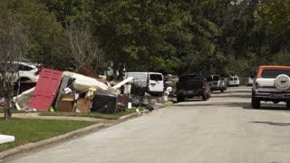 August 2017 Houston Texas Pan Across Furniture And Debris Outside A Neighborhood After Hurricane Harvey 4 K 1