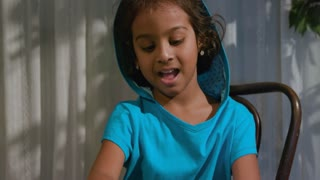 Closeup Cute Little Girl Playing With Modeling Clay 4 K