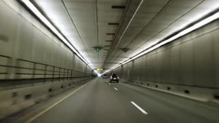 Driving Through The Eisenhower Tunnel Colorado