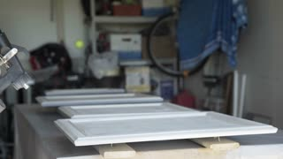 home handyman spray painting cabinet doors 4k