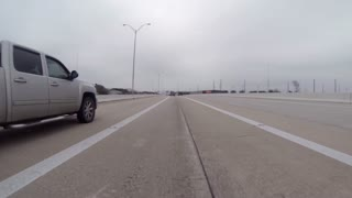 Houston Texas Feb 5 2017 Driving Plate On Hwy 8 In South Houston