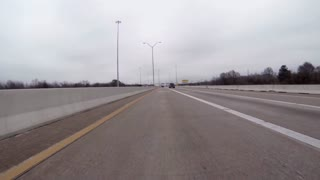 Houston Texas Feb 5 2017 Hazy Day Driving On Hwy 8 Into Toll Plaza