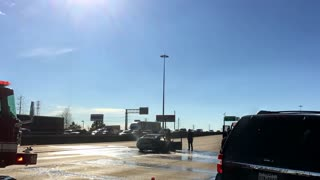 Houston Tx Jan 29 2017 Hwy 59 Passing Emergency Vehicles Putting Out A Car Fire 4 K