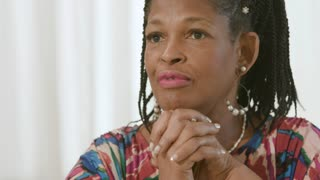 Lovely African American Woman Talking
