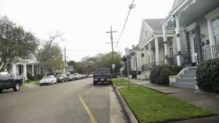 New Orleans La 3 11 17 Pan Establishing Shot Of Typical Shotgun Homes 4 K