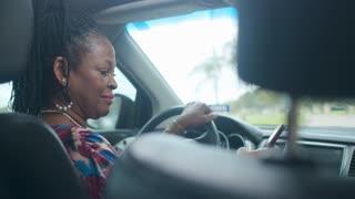 Ride sharing driver verifies and greets customer