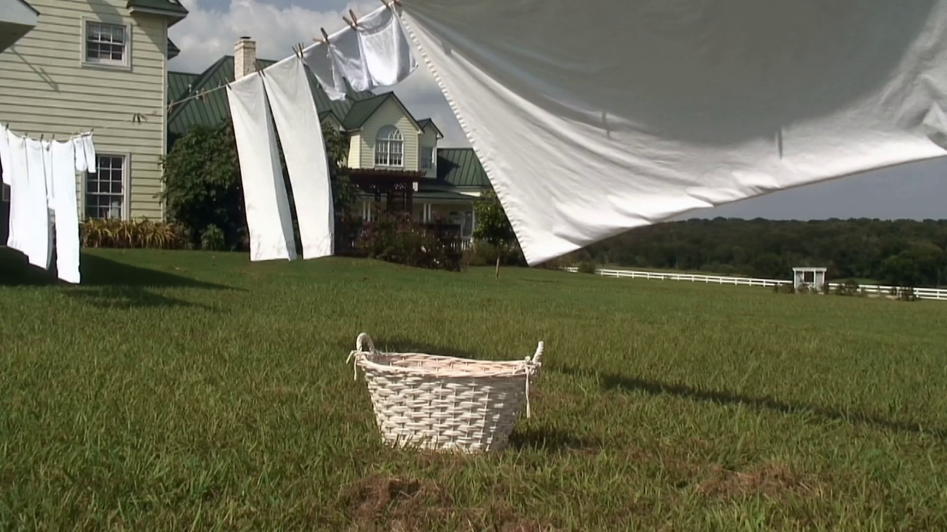 sheets hanging from an old fashioned clothesline Stock Video Footage -  Storyblocks