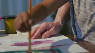 Teacher Showing Her Student Brush Strokes For Art Class 4 K