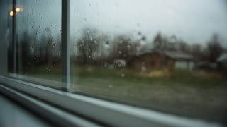 view from a rainy window