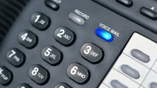voice mail blinking on a phone 4k