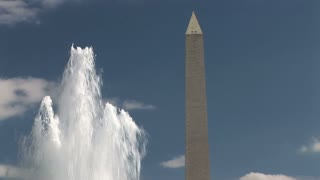 washington monument fountain