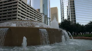 water feature in downtown houston.