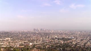 wide view of downtown Los Angeles California 4k