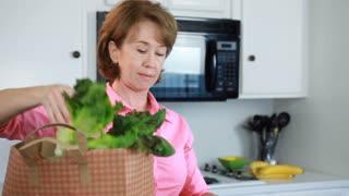 woman fresh produce