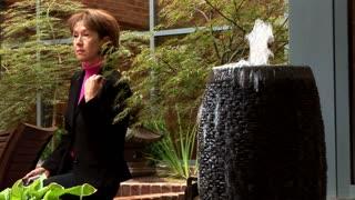 woman in japanese garden