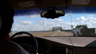 woman interstate driving