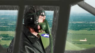 WWII pilot flying recon no effects