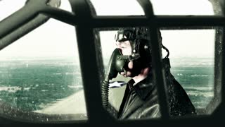 WWII pilot flying recon